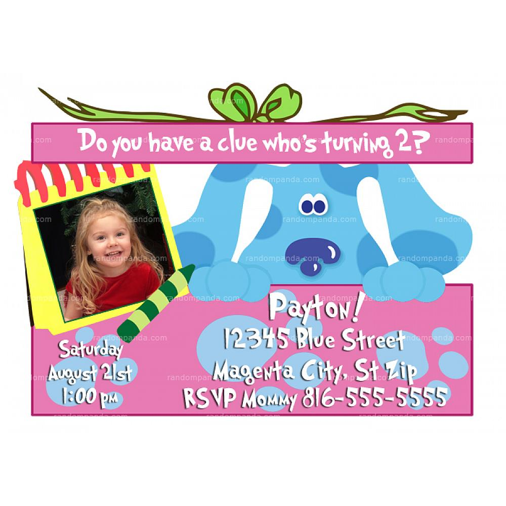 Blues Clues Invitation Pink