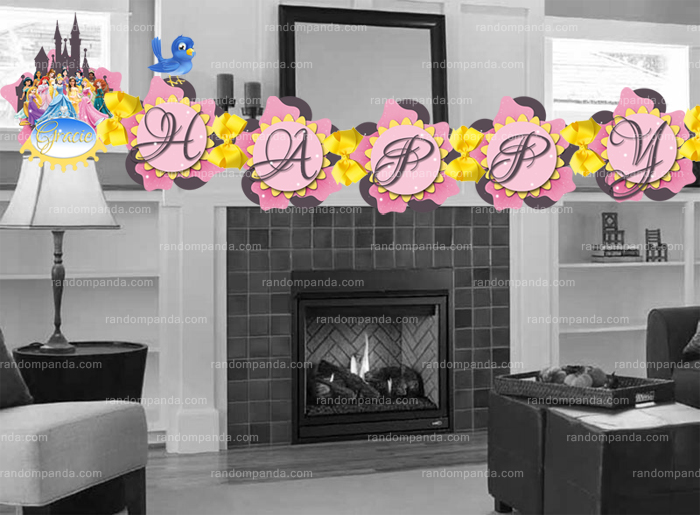 DIY Disney Princess Banner, Princess Party, Princess Birthday Banner