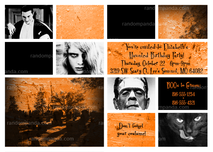 Halloween Invitation, Haunted House Party, Zombie Invite