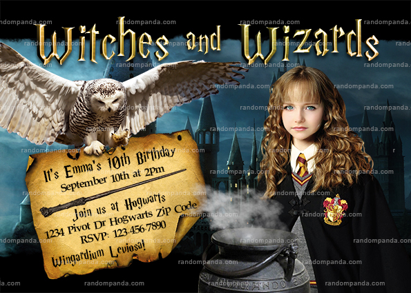Célèbre Personalize Harry Potter Invitation, Hogwarts Party, BE Hermione  FQ82