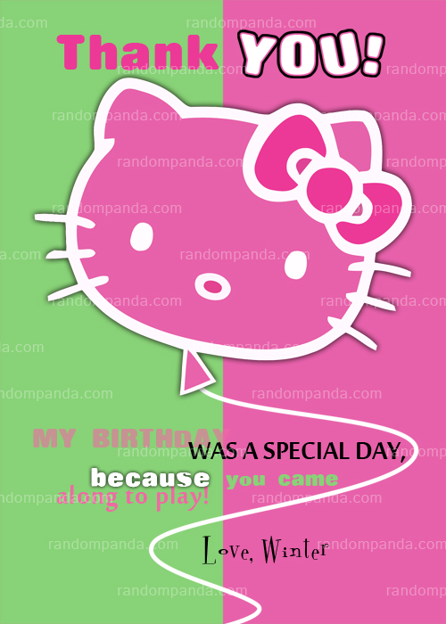 Hello Kitty Invitation, Add Whiskers, Hello Kitty Party Invite