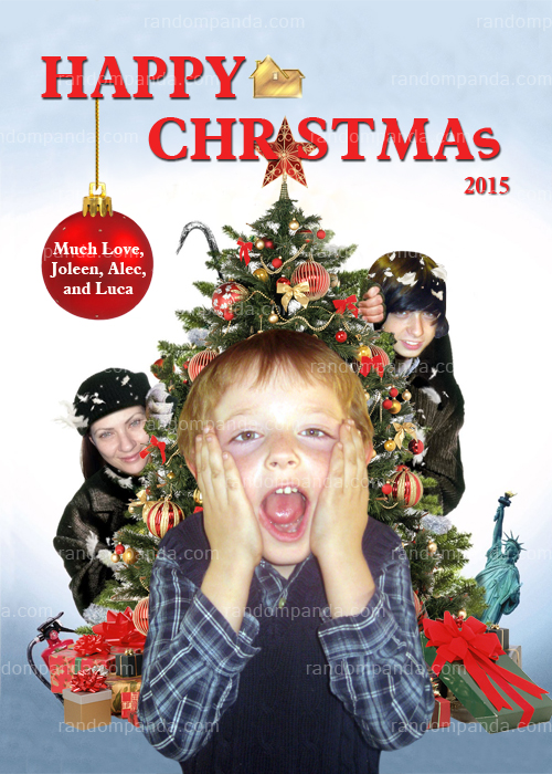 Personalized Home Alone Funny Christmas Card