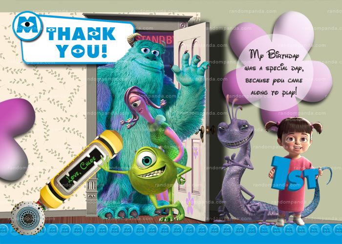 DIY Monsters Inc Party Invitation Make your kid BOO Monsters Inc
