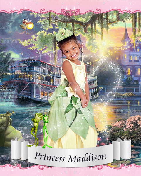 Personalize Kids Poster, BE Princess Tiana Poster, Princess and the Frog Party