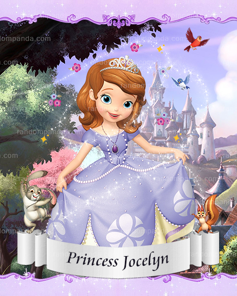 Personalize Kids Poster, Princess Sofia Poster, Sofia The First Party Wall Art