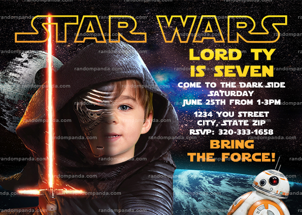 Personalize force awakens invitation kylo ren party star wars personalize force awakens invitation kylo ren party star wars birthday invite filmwisefo