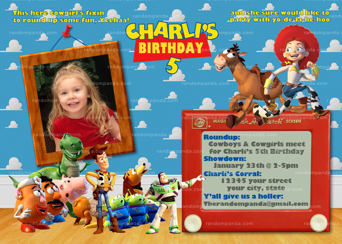 Personalize Toy Story Jessie Invitation, Jessie Party, Toy Story Party Invite