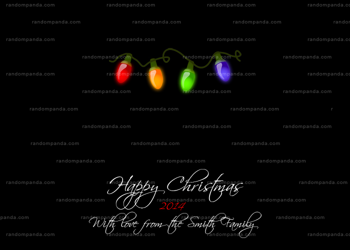 Christmas Lights Card, Christmas Bulbs, Xmas Lights Holiday Card
