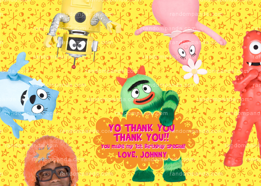 diy yo gabba gabba invitation, yo gabba party, yo gabba invite, Birthday invitations