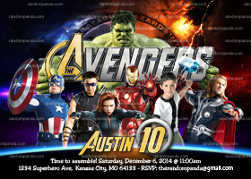 Personalize The Avengers Invitation, Avengers Party, Superhero Invite