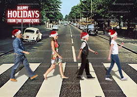 Abbey Road Funny Christmas Card, Inspired by The Beatles Holiday Card