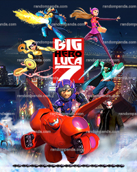 Personalize kids poster, Big Hero 6 wall art, Baymax Poster