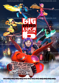 Big Hero 6 Invitation, Big Hero 6 Party Invite, Make your child Hiro
