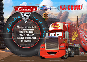 Disney Cars Invitation, Mack Truck Party, Mack Truck Birthday Invite