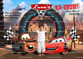 Personalize Cars Invitation, Lightning McQueen Party, Mater Invite