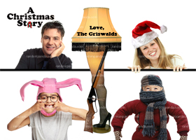 Funny Family Portrait Holiday A Christmas Story Card