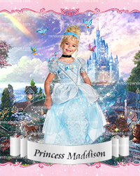 Personalize Kids Poster, BE Cinderella Poster, Cinderella Party Wall Art