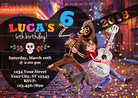 Personalize Funny Coco Invitation, BE Miguel and Hector Party, Coco Birthday Invite