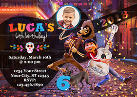 Personalize Coco Invitation, Miguel and Hector Party, Coco Birthday Invite