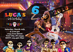 Personalize Funny Coco Invitation, BE Miguel Skeleton Party, Coco Birthday Invite