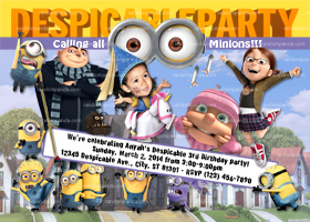 Despicable Me Invitation, Minion Party, Minion Invite, Be Agnes