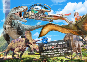 Dinosaur Invitation, Ride Pterodactyl Birthday Invite, Jurassic Park Party