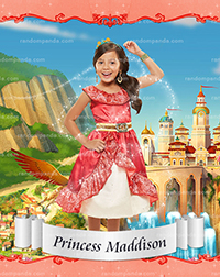 Personalize Kids Poster, BE Princess Elena Poster, Elena of Avalor Party Wall Art