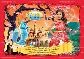 Personalize Elena of Avalor Costume Party Invitation, Princess Elena Birthday Invite