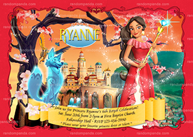Princess Elena Birthday Invite, Elena of Avalor Party Invitation