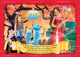 Personalize Princess Elena Birthday Invite, Elena of Avalor Party Invitation
