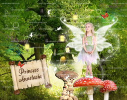 Personalize Fairy Princess Poster, Fairy Wall Art, Photoshop Pixie