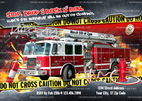 Firefighter Party, Firemen Invitation, Fire Truck Birthday, Fireman Invite