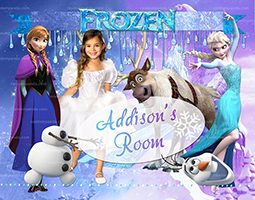 Personalize Kids Poster, Frozen Poster, Elsa and Anna Wall Art