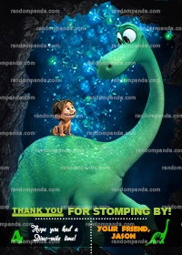The Good Dinosaur Thank You Card, Spot Party, Good Dinosaur Thanks Note