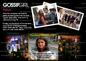 Gossip Girl Party Invitation, Birthday, Graduation, Announcement
