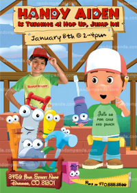 Handy Manny Invitation, Handy Manny Party, Handy Manny Invite
