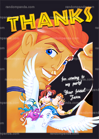 Hercules Thank You Card, Hercules Birthday Thanks Note