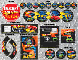 DIY Hotwheels Party Package, Hot Wheels Bundle, Hotwheels Decorations