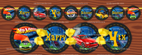 DIY Hotwheels Banner, Hot Wheels Party, Hotwheels Birthday Banner