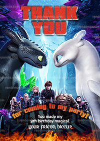 Funny How to Train Your Dragon Invitation, Vikings Party Invite