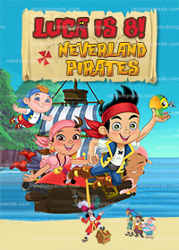 Personalize Pirate Poster, Jake and the Neverland Pirates Party Backdrop
