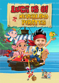 Personalize BE Jake Poster, Jake and the Neverland Pirates Party Backdrop