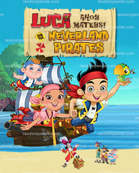 Personalize Kids Poster, Jake and the Neverland Pirates Party Poster