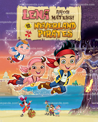 Personalize Kids Poster, Izzy Party, Jake and the Neverland Pirates Poster