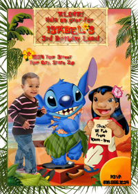 Personalize Lilo and Stitch Invitation, Lilo Party, Lilo Birthday Invite