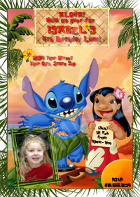 Lilo and Stitch Invitation, Lilo and Stitch Party, Stitch Birthday Invite