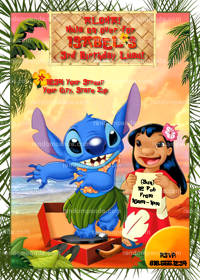 Lilo and Stitch Invitation, Stitch Birthday Invite, Lilo and Stitch Party