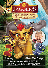 Personalize Lion Guard Invitation, Kion Party, Lion Guard Birthday Invite