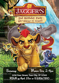 Lion Guard Invitation, Kion Party, Lion Guard Birthday Invite