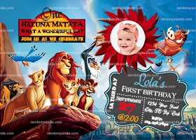 Personalize Lion King Invitation, Kovu Party, Simba Birthday Invite